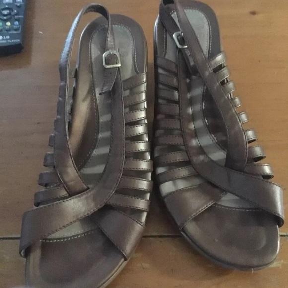 Dansko Shoes - Strappy bronze wedge dansko size 39